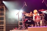 『Otakon 2015』で初の海外ライブを行ったDraft King(写真はドラムのSHIHO)