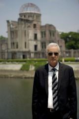 先月末、44年ぶりに広島を訪れたレッド・ツェッペリンのギタリスト、ジミー・ペイジ(C)Ross Halfin