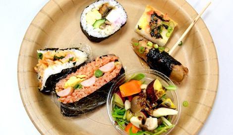 """ニコニコのり新商品発表会で紹介された、日本のソウルフード""""海苔""""を使ったアイデアレシピ(C)oricon ME inc."""