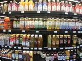 アメリカのオーガニック系スーパーではコンブチャがずらり