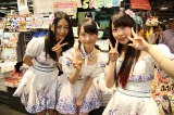CDショップ回りをした(左から)古畑奈和、松井玲奈、高柳明音