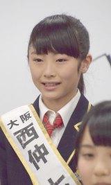 『第2回AKB48グループドラフト会議』で指名を受けた西仲七海さん (C)ORICON NewS inc.