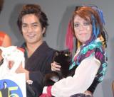 劇場版『猫侍 南の島へ行く』の完成披露イベントに出席した(左から)北村一輝、LiLiCo (C)ORICON NewS inc.