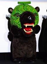 映画『テッド2』完成披露試写イベントに登場した北海道夕張市を応援するメロン熊 (C)oricon ME inc.