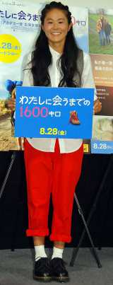 映画『わたしに会うまでの1600キロ』トークイベントで新婚生活について語った澤穂希選手 (C)ORICON NewS inc.