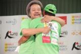 (左から)西田敏行、間寛平=『RUN FORWARD KANPEI みちのくマラソン2015』最終日の模様