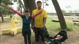 クワバタオハラ・小原正子、夫・マック鈴木、息子・誠吉千くんのサポートを受け、神戸マラソンに初挑戦(C)ABC