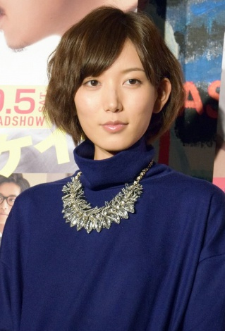 映画「ピースオブケイク」の公開記念イベントでの光宗薫さん