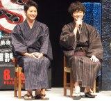 映画『S-最後の警官-奪還 RECOVERY OF OUR FUTURE』公開直前イベントに出席した(左から)向井理、綾野剛 (C)ORICON NewS inc.