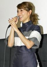 主演映画『ロマンス』の初日舞台あいさつに登壇した大島優子