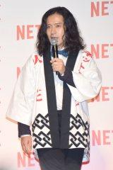 『Netflix』のジャパンローンチパーティーにサプライズゲストとして登場したピースの又吉直樹 (C)ORICON NewS inc.