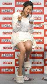 ロッテ『雪見 もちもちカフェ』完成お披露目会に出席した土屋太鳳 (C)ORICON NewS inc.