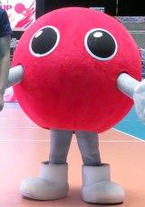 『FIVBワールドカップバレーボール2015』大会開幕前取材に登場したバボちゃん (C)ORICON NewS inc.
