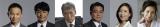 10月18日スタート、TBS系日曜劇場『下町ロケット』の出演者(左から)恵俊彰、安田顕、吉川晃司、立川談春、真矢ミキ、倍賞美津子