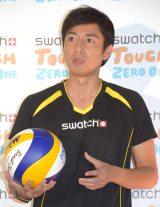 『コネクティッド ウォッチ Swatch Touch Zero One』記者発表会に出席したチュートリアルの徳井義実 (C)ORICON NewS inc.