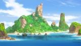 動く島!?(C)プロジェクト シンドバッド