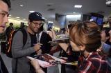 マーベルヒーロー映画『アントマン』主人公・スコット役を演じるポール・ラッドが初来日。空港の到着ロビーでファンに出迎えられ感謝感激