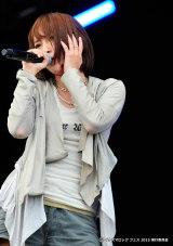 オープニングアクトを務めた藍井エイル(19日、『イナズマロック フェス 2015』雷神ステージ)