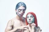 フェイスパック『ナイトメアー・ビフォア・クリスマスフェイスパック』(2枚組/税込900円) ペアで装着したら仮装メイクの出来上がり