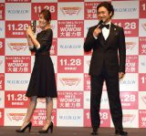 『TOUCH!WOWOW2015』記者会見に出席した(左から)内田恭子、石丸幹二 (C)ORICON NewS inc.