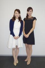 斎藤裕美アナウンサー(左)は木・金曜のニュースコーナーを担当(C)ABC
