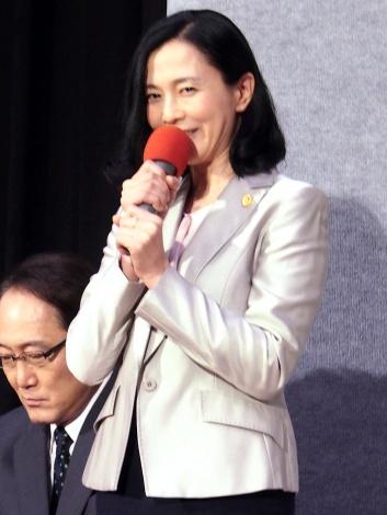 NHKドラマ『破裂』試写会に出席した坂井真紀 (C)ORICON NewS inc.