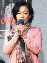 NHKドラマ『破裂』試写会に出席したキムラ緑子 (C)ORICON NewS inc.