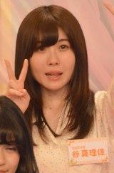 6日よりスタートする日本テレビ深夜番組『AKB48の今夜はお泊りッ』(毎週月曜 深夜1:29※関東ローカル)に出演する谷真理佳 (C)ORICON NewS inc.