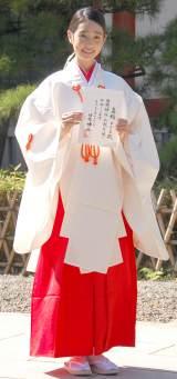 「日枝神社広報大使(七五三・お正月)」任命式に登場した高橋ひかる (C)ORICON NewS inc.