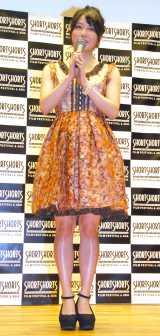 ショートフィルム『漁船の光』のトークイベントに出席したAKB48の横山由依 (C)ORICON NewS inc.