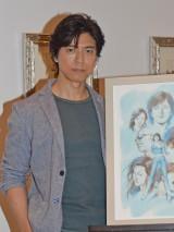 北条司氏の原画展を訪れた上川隆也 (C)ORICON NewS inc.