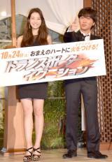 (左から)足立梨花、スピードワゴン・小沢一敬 (C)ORICON NewS inc.