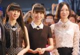 『第28回東京国際映画祭』のレッドカーペットに登場したPerfume(左から)かしゆか、あ〜ちゃん、のっち (C)ORICON NewS inc.