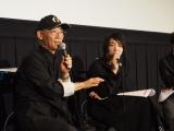 『第28回東京国際映画祭』特集上映「ガンダムとその世界」のトークイベントに登壇した富野由悠季氏(左)とメディアアーティストで筑波大学助教の落合陽一氏 (C)ORICON NewS inc.