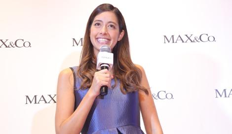 伊ファッションブランド「MAX&Co.」表参道店のリニューアルイベントに登場した森泉