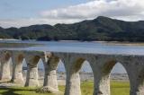 トリップアドバイザーがユーザーの声をもとに実施した「口コミで選ぶ日本の橋ランキング」10位のタウシュベツ川橋梁(北海道)