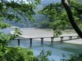 トリップアドバイザーがユーザーの声をもとに実施した「口コミで選ぶ日本の橋ランキング」13位の勝間沈下橋(高知県)