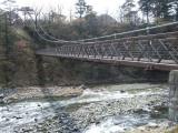 トリップアドバイザーがユーザーの声をもとに実施した「口コミで選ぶ日本の橋ランキング」29位の七つ岩吊り橋(栃木県)
