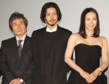 (左から)小栗康平監督、オダギリジョー、中谷美紀 (C)ORICON NewS inc.