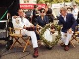 ショートフィルム『紳士の賭け事』第二弾に出演する(左から)ジュード・ロウ、ヴィッキー・チャオ、ジャンカルロ・ジャンニーニ