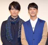 映画『流れ星が消えないうちに』舞台あいさつに出席した(左から)入江甚儀、葉山奨之 (C)ORICON NewS inc.