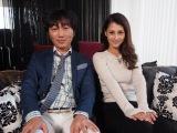 TOKYO MXで放送中の『THE HOUSE first season』スタジオMCの小沢一敬(スピードワゴン)とダレノガレ明美 (C)ORICON NewS inc.