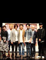 プレイベントに登場したキャスト陣。(左から)入来茉里、坂元健児、池田純矢、小須田康人、鈴木勝吾、植本潤、井澤勇貴。(C)De-view