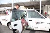 ゲーム『戦国無双4』に登場する三成のキャラクターをあしらった「三成タクシー」