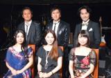 (前列左から)城南海、渡辺めぐみ、新妻聖子、(後列左から)KAZZ、川崎麻世、吉田要士 (C)ORICON NewS inc.