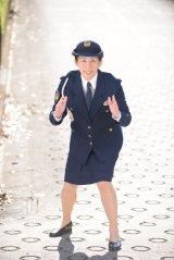 日本テレビ系連続ドラマ『掟上今日子の備忘録』に出演する吉田沙保里 (C)日本テレビ