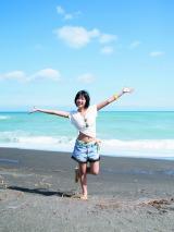 開放感のある海で撮影も