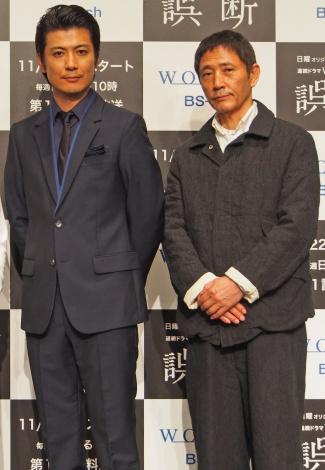 ドラマ『誤断』撮影裏話を明かした(左から)玉山鉄二、小林薫 (C)ORICON NewS inc.