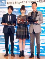 (左から)忍成修吾、おのののか、山下真司 (C)ORICON NewS inc.