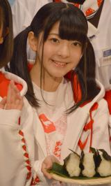 『新潟米コシヒカリで作る!ニホンのキホンのゴハン』イベントに出席したNGT48の菅原りこ (C)ORICON NewS inc.
